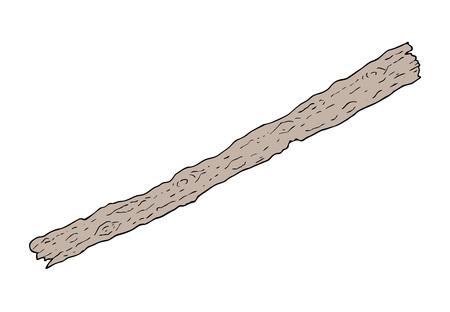 Old piece of wood illustration. Illustration