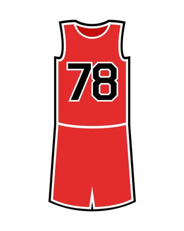 Basketball uniform, with number 78 illustration.