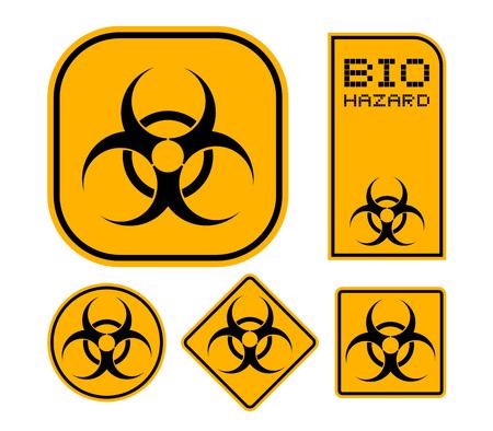 Biohazard symbols Illustration. Stock Illustratie