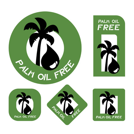 Palm oil free symbol illustration on white background.