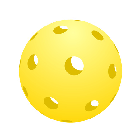ball of pickle ball icon illustration.