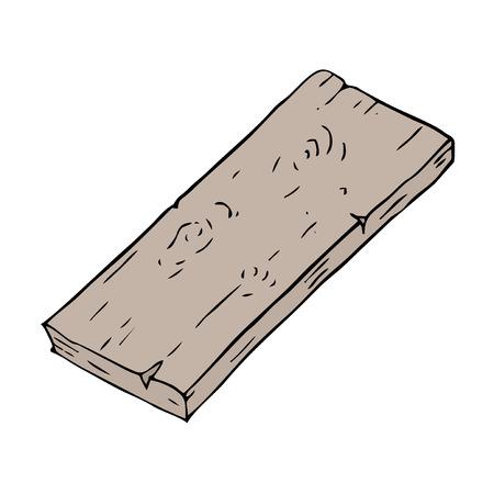 Wood piece illustration. Illustration