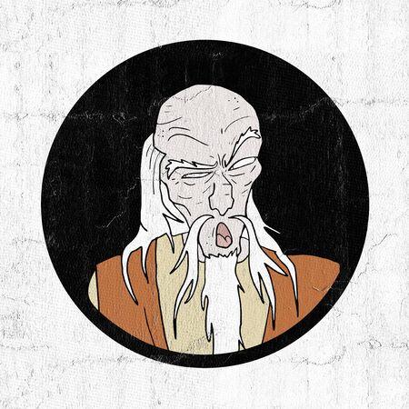 wise oriental man