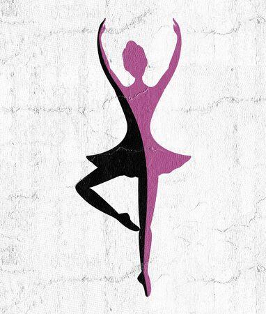 dancer girl symbol Stock Photo