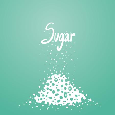 Heap of sugar illustration Illustration