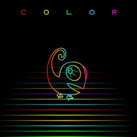 Colorful art chameleon