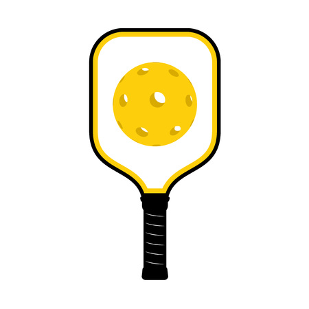 Pickleball racket illustration