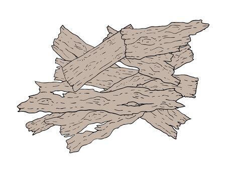 piezas antiguas de madera
