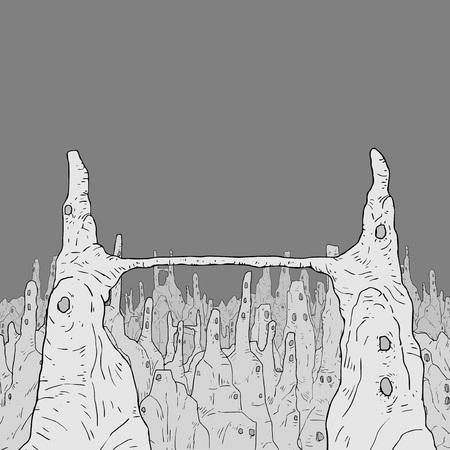 fantasy tall peaks illustration