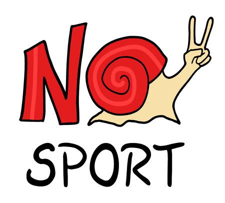No sport message symbol. Illustration