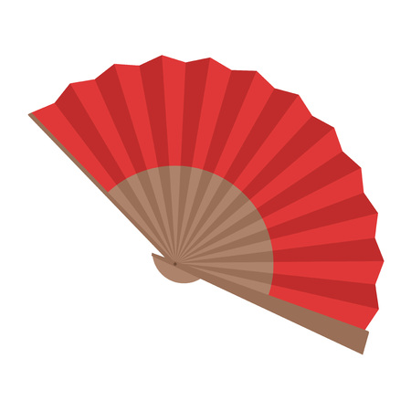 Rode Abanico illustratie Stock Illustratie