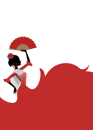 Gypsy Spanish dancer illustration