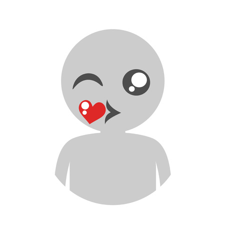 Blowing a kiss vector