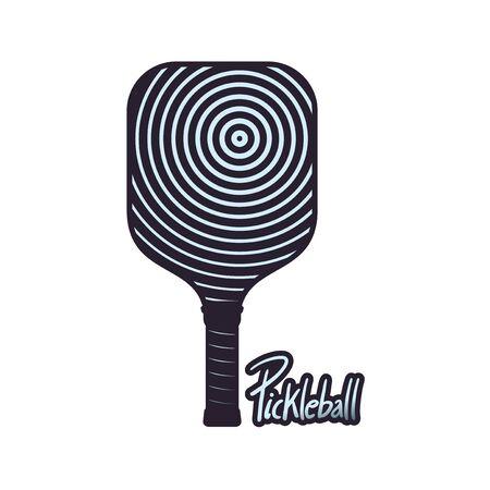 Pickleball racket symbol design