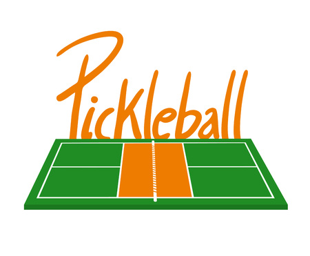 Pickle-ball court illustration.