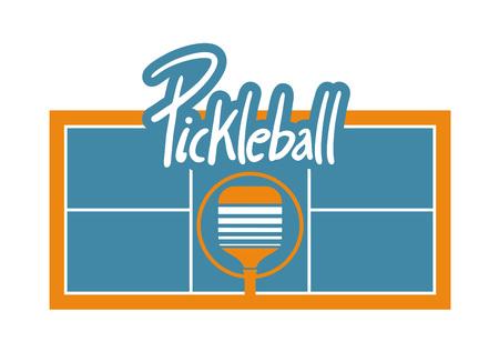 Pickle-ball court illustration.