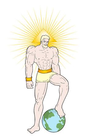 powerful god draw Ilustração