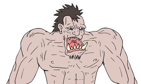 A monster illustration. Stock Vector - 96336383