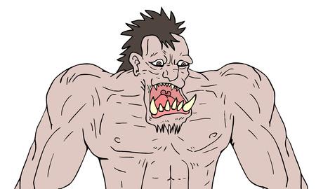 A monster illustration. Illustration