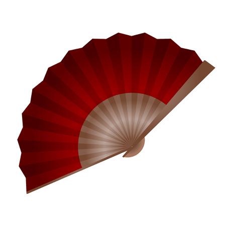 elegante fan ontwerp illustratie