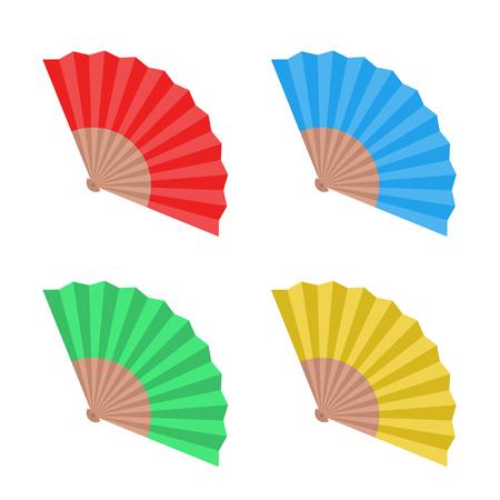 A flat fan illustration isolated on plain background
