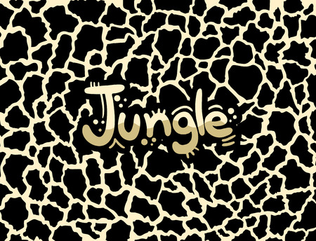 A jungle background art design isolated on cool background Archivio Fotografico - 97028214
