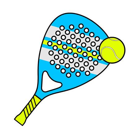 Padel racket illustration isolated on plain background