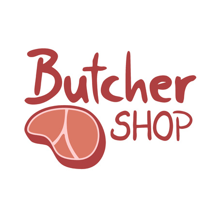 Butcher shop icon Illustration