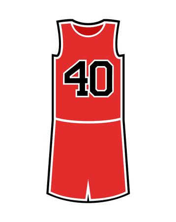 Basket uniform illustration 일러스트
