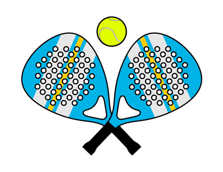 Padel racket illustration Foto de archivo - 97593288