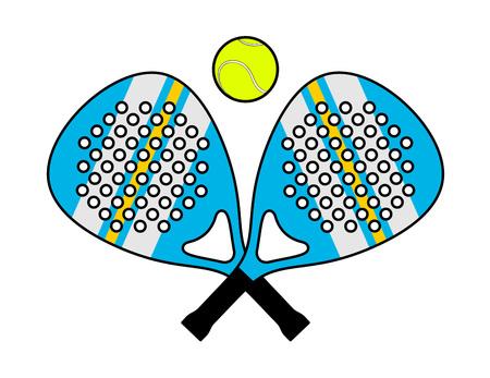 Padel racket illustration Illustration
