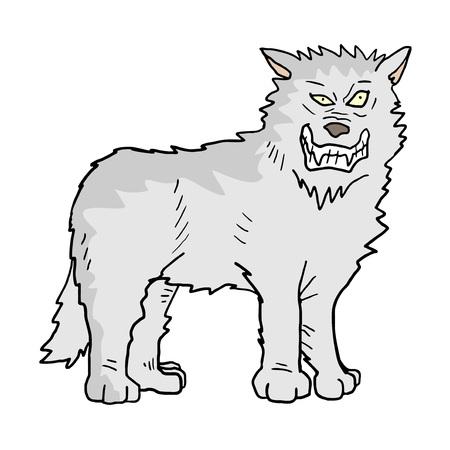 White wolf illustration