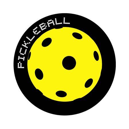 Conception de symbole de pickleball Banque d'images - 97800726