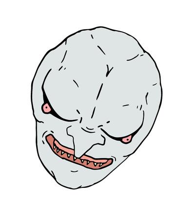 evil face Ilustração