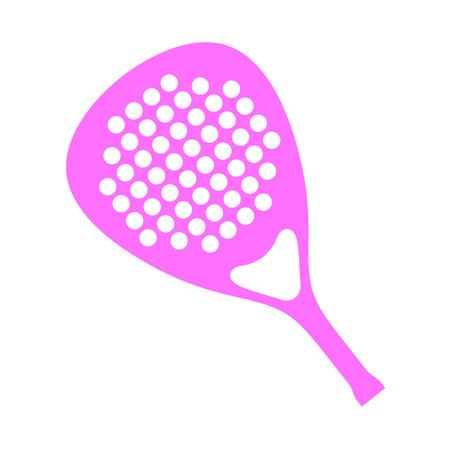 Pink paddle racket Vector illustration.