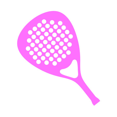 Pink paddle racket Vector illustration.