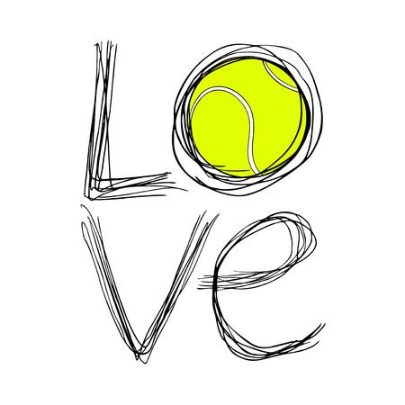 Love tennis symbol