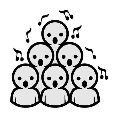 voice choir icon design  イラスト・ベクター素材