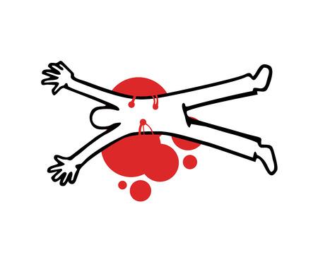 design of crime illustration