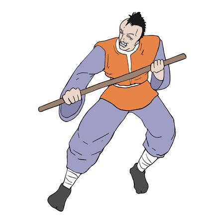 warrior attack draw Illustration