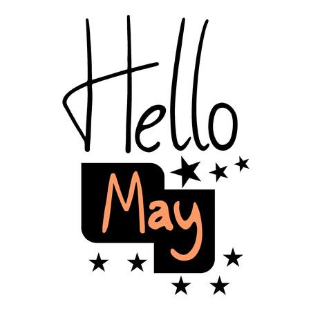 hello May love message Stock Illustratie