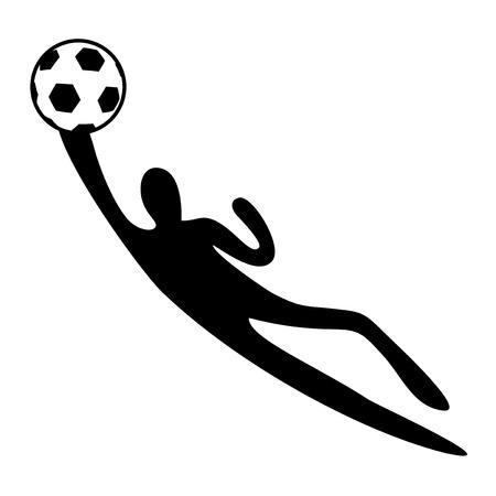Design of goalkeeper illustration