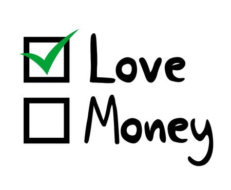 Love or Money selection image illustration