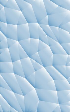 Imaginative blue tissue mosaic textured design illustration.