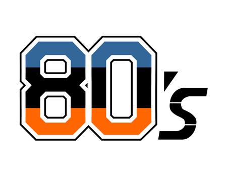 80's decade icon symbol