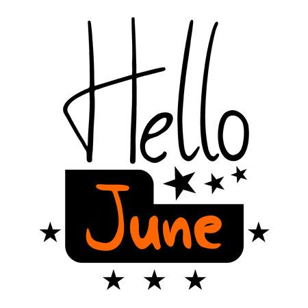 Hello June symbol vector illustration.