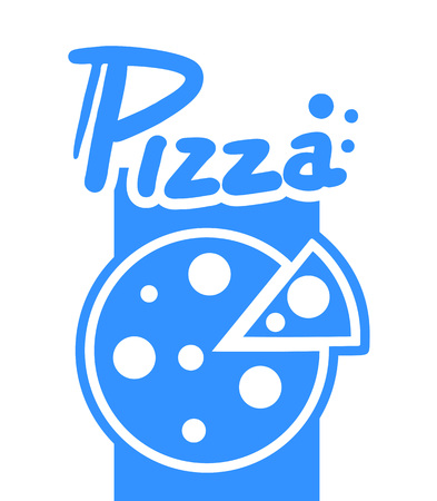 pizza symbol Vector illustration. Çizim