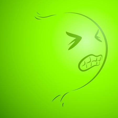 angry head Illustration