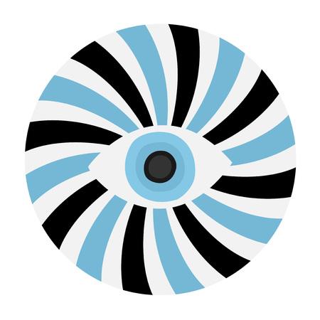 Hypnosis eye icon.