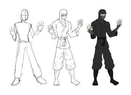 Ninja sketch design
